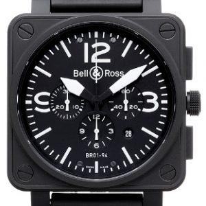 Bell & Ross Aviation Chronographe Carbon Ref. BR0194-BL-CA
