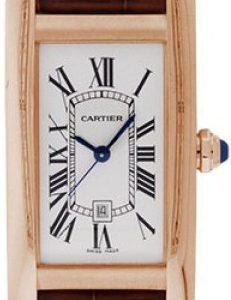 Cartier Tank Américaine Mittleres Modell Rotgold Leder Ref. W2620030