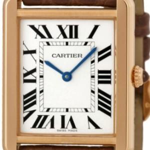 Cartier Tank Solo gr. Modell Rotgold/Stahl Leder Ref. W5200025