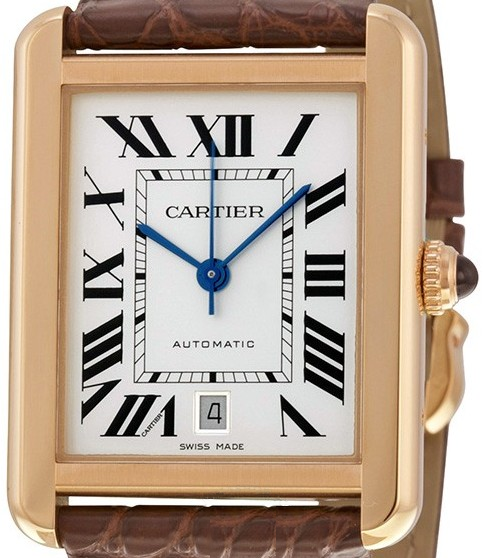 Cartier Tank Solo XL Rotgold / Stahl Leder Ref. W5200026