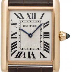 Cartier Tank Louis Cartier gr. Mod. Gelbgold Saphir Ref. WGTA0011