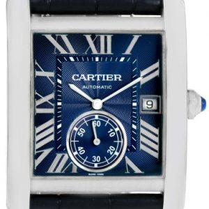Cartier Tank MC Edelstahl Leder Ref. WSTA0010