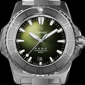 Formex REEF Automatik Chronometer COSC 300M silver / green Ref. 2200.1.6301.100