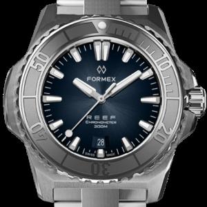 Formex REEF Automatik Chronometer COSC 300M silver / blue Ref. 2200.1.6331.100